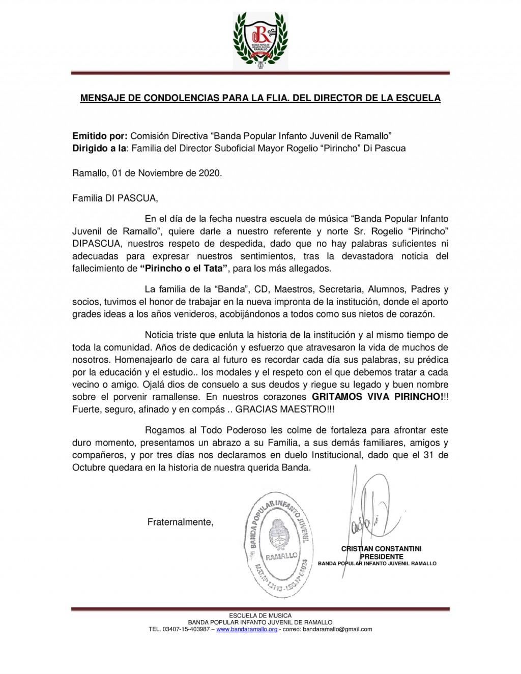 BANDA POPULAR INFANTO JUVENIL DE RAMALLO